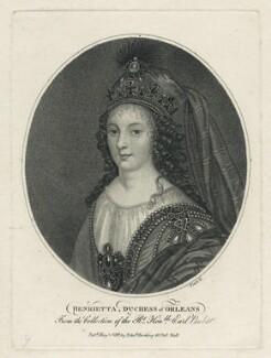 Henrietta Anne, Duchess of Orleans, by William Platt, published by  Edward Harding, published 1799 - NPG D29336 - © National Portrait Gallery, London