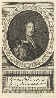 Thomas Wriothesley, 4th Earl of Southampton, by Joseph Sympson (Simpson), after  Sir Peter Lely - NPG D29340