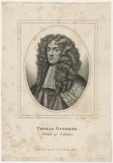 Thomas Osborne, 1st Duke of Leeds ('Lord Danby'), published by John Scott, after  Sir Peter Lely - NPG D29344