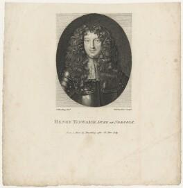 Henry Howard, 6th Duke of Norfolk, by William Nelson Gardiner, after  Sir Peter Lely - NPG D29346