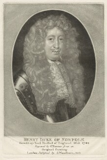 Henry Howard, 7th Duke of Norfolk, by Charles Turner, published by  Samuel Woodburn - NPG D29348
