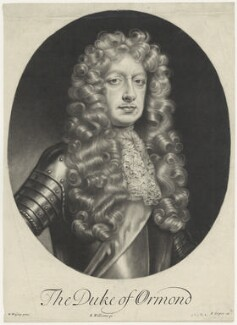James Butler, 1st Duke of Ormonde, by Robert Williams, after  Willem Wissing, published by  Edward Cooper, late 17th century - NPG D29354 - © National Portrait Gallery, London