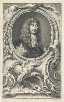 Henry Bennet, 1st Earl of Arlington, by Jacobus Houbraken, after  Sir Peter Lely, published by  John & Paul Knapton - NPG D29366
