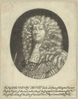 Henry Bennet, 1st Earl of Arlington, by Abraham Blooteling (Bloteling), published by  John Lloyd - NPG D29367