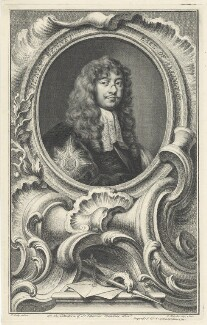 Henry Bennet, 1st Earl of Arlington, by Jacobus Houbraken, after  Sir Peter Lely, published by  John & Paul Knapton - NPG D29369