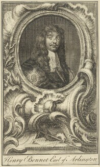 Henry Bennet, 1st Earl of Arlington, after Sir Peter Lely, mid 18th century - NPG D29371 - © National Portrait Gallery, London