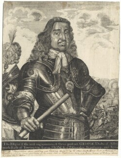 George Monck, 1st Duke of Albemarle, after David Loggan, published by  Henry Mortlock (Mortlack) - NPG D29373