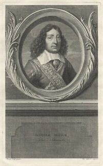 George Monck, 1st Duke of Albemarle, by Benoit Audran the Elder, after  Adriaen van der Werff, after  Francis Barlow - NPG D29376