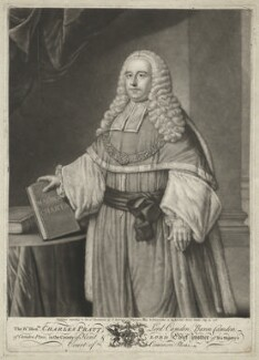 Charles Pratt, 1st Earl Camden, by Jonathan Spilsbury, after  William Hoare - NPG D32548