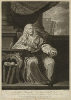 Charles Pratt, 1st Earl Camden, by John Gottfried Haid, after  Sir Joshua Reynolds - NPG D32551