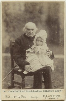 William Ewart Gladstone; Dorothy Mary Catherine ('Dossie') Parish (née Drew), by Elliott & Fry - NPG x12552
