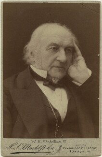 William Ewart Gladstone, by Hayman Seleg Mendelssohn - NPG x5961
