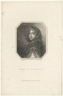 James Scott, Duke of Monmouth and Buccleuch, by Edward Scriven, after  Sir Peter Lely - NPG D29397