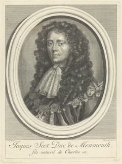 James Scott, Duke of Monmouth and Buccleuch, by Bernard Picart (Picard), after  Sir Peter Lely - NPG D29399
