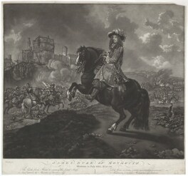 Unknown man engraved as James Scott, Duke of Monmouth and Buccleuch, by William Baillie, after  Caspar Netscher, after  Jan van Wyck - NPG D29402