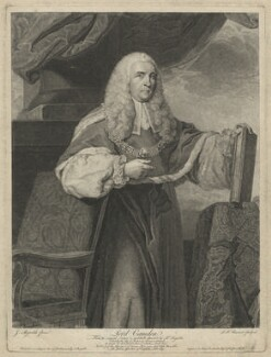 Charles Pratt, 1st Earl Camden, by Simon François Ravenet, published by  John Boydell, after  Sir Joshua Reynolds - NPG D32555