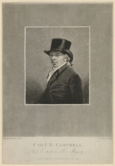 Colonel H. Campbell, by Charles Turner, after  Benjamin Marshall - NPG D32564
