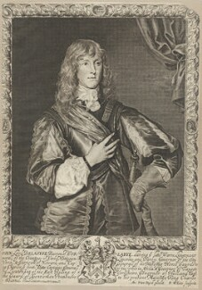 John Belasyse (Bellasis), 1st Baron Belasyse of Worlaby, by Robert White, after  Sir Anthony van Dyck - NPG D29423
