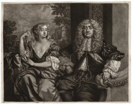 John Maitland, Duke of Lauderdale; Elizabeth Murray, Duchess of Lauderdale and Countess of Dysart, by Robert Williams, published by  Richard Tompson, after  Sir Peter Lely - NPG D29435