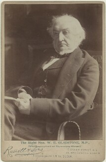 William Ewart Gladstone, by John Lemmon Russell, for  James Russell & Sons - NPG x38896
