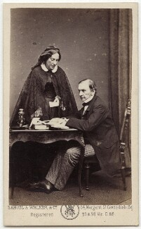 Catherine Gladstone (née Glynne); William Ewart Gladstone, by Samuel Alexander Walker, 1862-1866 - NPG x5975 - © National Portrait Gallery, London