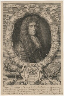James Drummond, 4th Earl of Perth, by Robert White, after  John Riley - NPG D29441