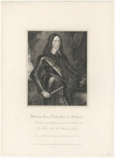 William Kerr, 3rd Earl of Lothian, by Henry Meyer, published by  Lackington, Hughes, Harding, Mavor & Jones, published by  Longman, Hurst, Rees, Orme & Brown, after  William Hilton, after  George Jamesone - NPG D29443