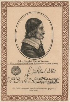 John Campbell, 1st Earl of Loudoun, after Abraham Simon, published by  John Thane - NPG D29444