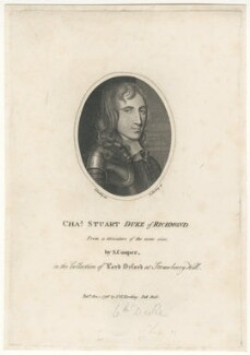 Charles Stuart, 3rd Duke of Richmond and 6th Duke of Lennox, by and published by Edward Harding, published by and after  Silvester (Sylvester) Harding, after  Samuel Cooper - NPG D29464