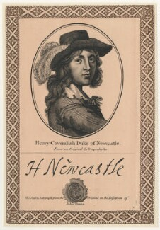 Henry Cavendish, 2nd Duke of Newcastle-upon-Tyne, after Abraham Diepenbeeck, published by  John Thane - NPG D29470