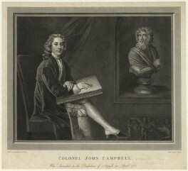 John Campbell, 4th Duke of Argyll, by James Basire, after  Jonathan Richardson - NPG D32570