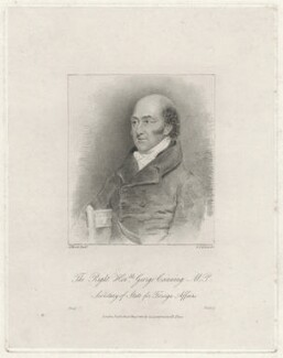 George Canning, by Frederick Christian Lewis Sr, after  Abraham Wivell - NPG D32581