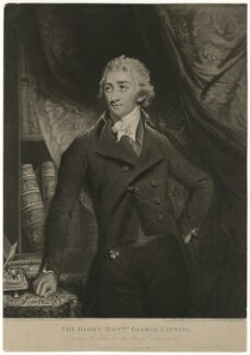 George Canning, by John Young, after  John Hoppner, published 1806 - NPG D32582 - © National Portrait Gallery, London