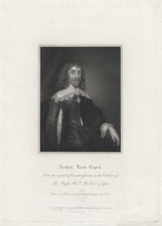 Arthur Capel, 1st Baron Capel, by Charles Picart, after  Harold Crease, after  Cornelius Johnson, published 1816 - NPG D32596 - © National Portrait Gallery, London