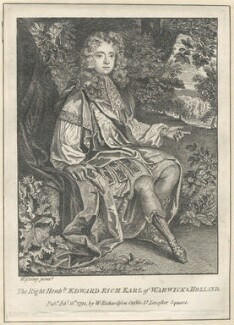 Edward Rich, 6th Earl of Warwick and 3rd Earl of Holland, after Willem Wissing, published by  William Richardson - NPG D29485