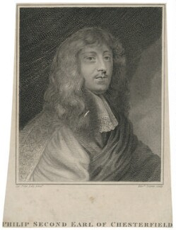 Philip Stanhope, 2nd Earl of Chesterfeld, by Edward Scriven, after  Sir Peter Lely - NPG D29487