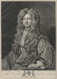 John Vaughan, 3rd Earl of Carbery, by John Faber Jr, after  Sir Godfrey Kneller, Bt - NPG D32599