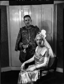 (Arthur) Oswald Barron; Hilda Barron (née Sanders), by Bassano Ltd - NPG x152670