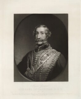 James Thomas Brudenell, 7th Earl of Cardigan, by George Zobel, after  Henry Wyndham Phillips - NPG D32601