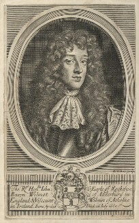 John Wilmot, 2nd Earl of Rochester, by Robert White, after  Sir Peter Lely - NPG D29490