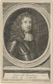 Edward Montagu, 1st Earl of Sandwich, by George Vertue, after  Sir Peter Lely - NPG D29493