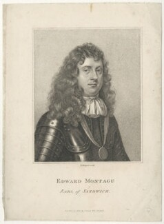 Edward Montagu, 1st Earl of Sandwich, by E. Bocquet, after  Sir Peter Lely - NPG D29496