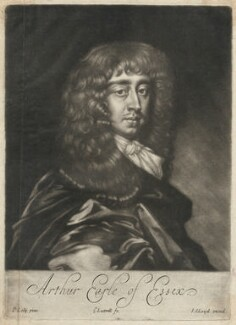 Arthur Capel, 1st Earl of Essex, by Edward Lutterell (Luttrell), published by  John Lloyd, after  Sir Peter Lely, circa 1682 - NPG D29500 - © National Portrait Gallery, London