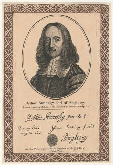 Arthur Annesley, 1st Earl of Anglesey, after Unknown artist, published by  John Thane - NPG D29503