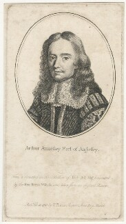 Arthur Annesley, 1st Earl of Anglesey, after Unknown artist, published by  John Thane - NPG D29504