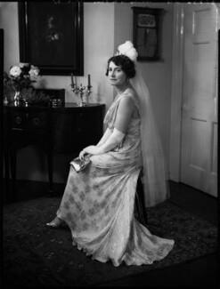 Christina (née Stenhouse), Lady Gardiner, by Bassano Ltd - NPG x152681