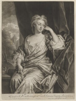 Sarah Churchill (née Jenyns (Jennings)), Duchess of Marlborough, by and published by John Simon, after  Sir Godfrey Kneller, Bt - NPG D32565