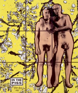 Gilbert & George ('IN THE PISS'), by Gilbert & George - NPG 6489