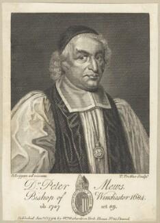Peter Mews, by Thomas Trotter, after  David Loggan, published by  William Richardson - NPG D29532