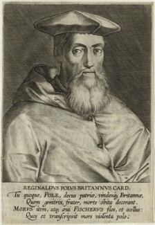 Reginald Pole, after Magdalena de Passe, and after  Willem de Passe - NPG D32616